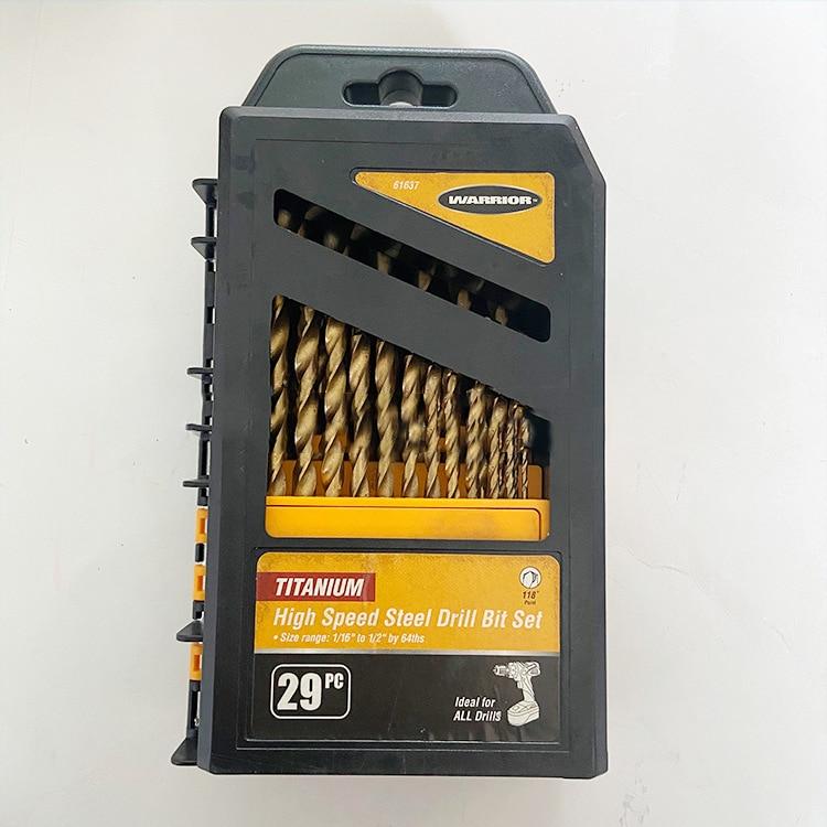 Titanium Coated Drill Bits Set HSS Mini Extractor Drill Bit  Metal Wood Aluminum Drilling High Speed Steel Drill Bits Set Tool