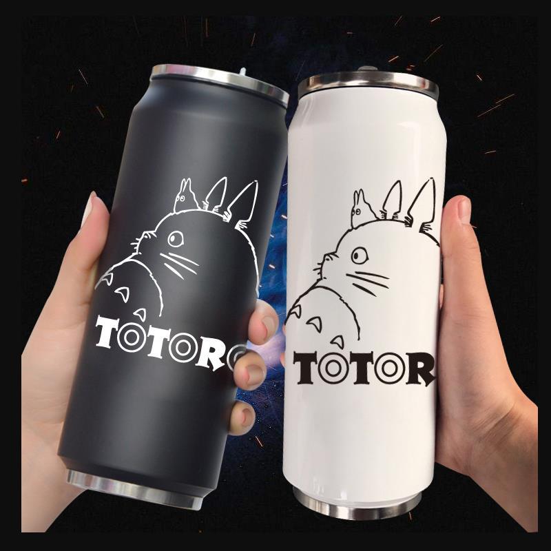 Taza de agua de Anime periférico My Neighbor Totoro Hayao Miyazaki, taza térmica personalizada para estudiantes masculinos y femeninos, creativa de 500ML