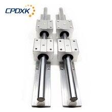 Guide linéaire 2 pièces SBR12 /SBR16 /SBR20 longueur 250mm-1600mm + 4 pièces SBR12UU /SBR16UU /SBR20UU blocs linéaires pour pièces de CNC