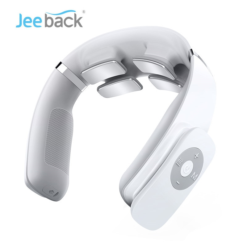 Jeeback G3 Electric Wireless Neck Massager TENS Pulse Relieve Neck Pain 4 Head Vibrator Heating Cerv