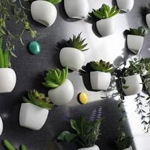 Flor Artificial suculenta planta Calcomanía para refrigerador Bonsai imán verde planta creativa planta en maceta casa pared
