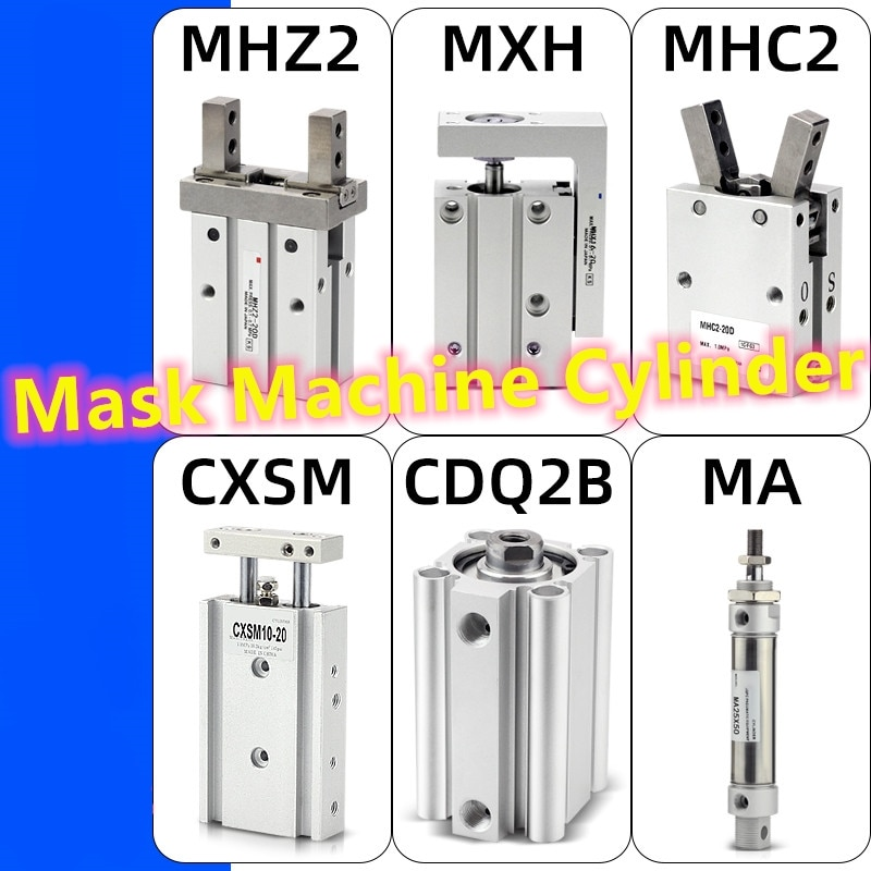 Máscara de máquina de cilindro Flutuante conjunta HFZ16 MHZ2-16D CXSM6-10 CXSM10-50 CXSM10-60 HFY20 MHC2-20D HLH16-20S TN25X10 oxigênio HRQ10A