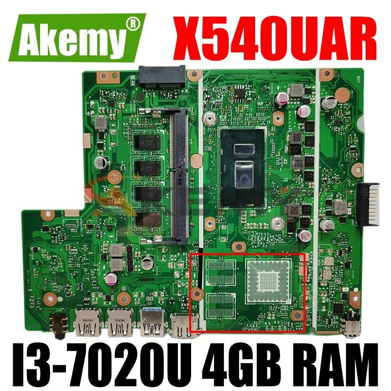 Akemy X540UAR اللوحة الأم للكمبيوتر المحمول Asus X540UB X540UBR X540UA X540UV REV 2.0 اللوحة الرئيسية ث/I3-7020U وحدة المعالجة المركزية 4GB RAM