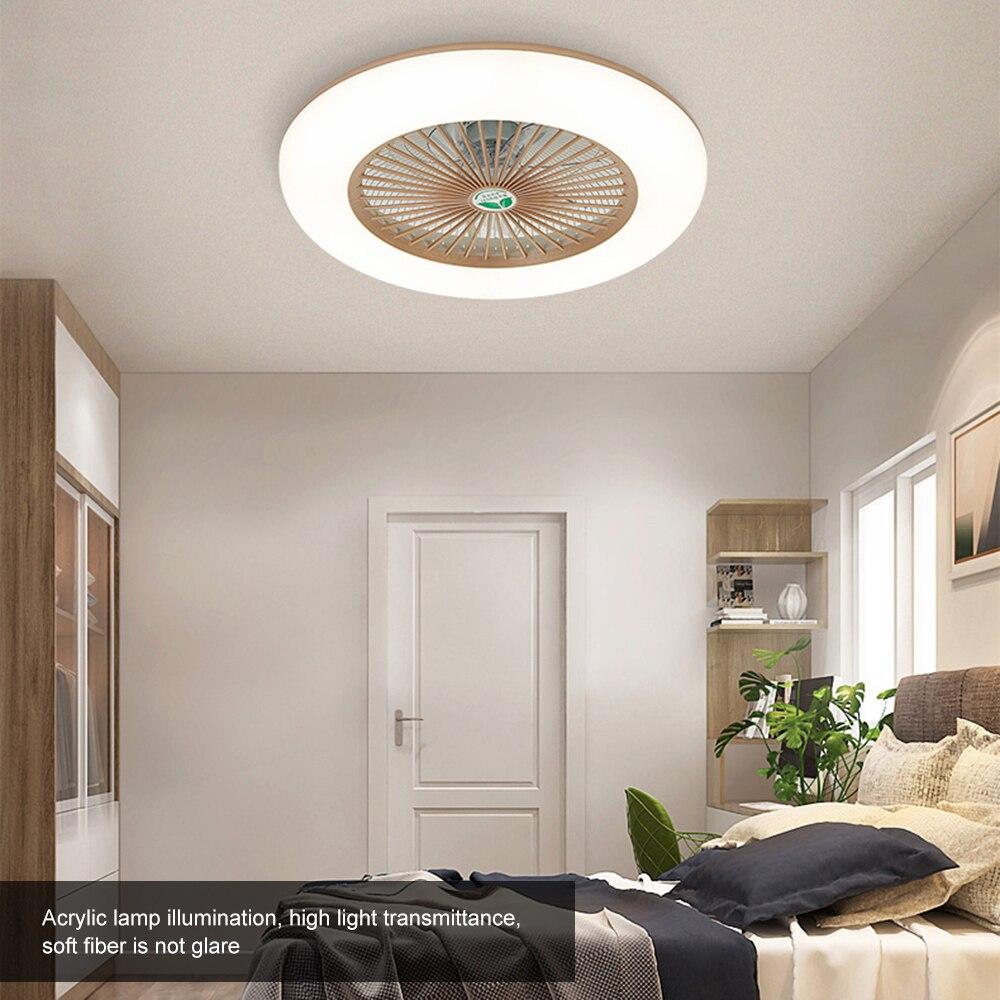 36W LED مروحة سقف قابلة للتعديل مع جهاز تحكم عن بعد ، مصباح سقف حديث لغرفة النوم وغرفة المعيشة