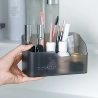 multi functional skin care products remote control cosmetics jewelry makeup organizer container desktop sundries storage box