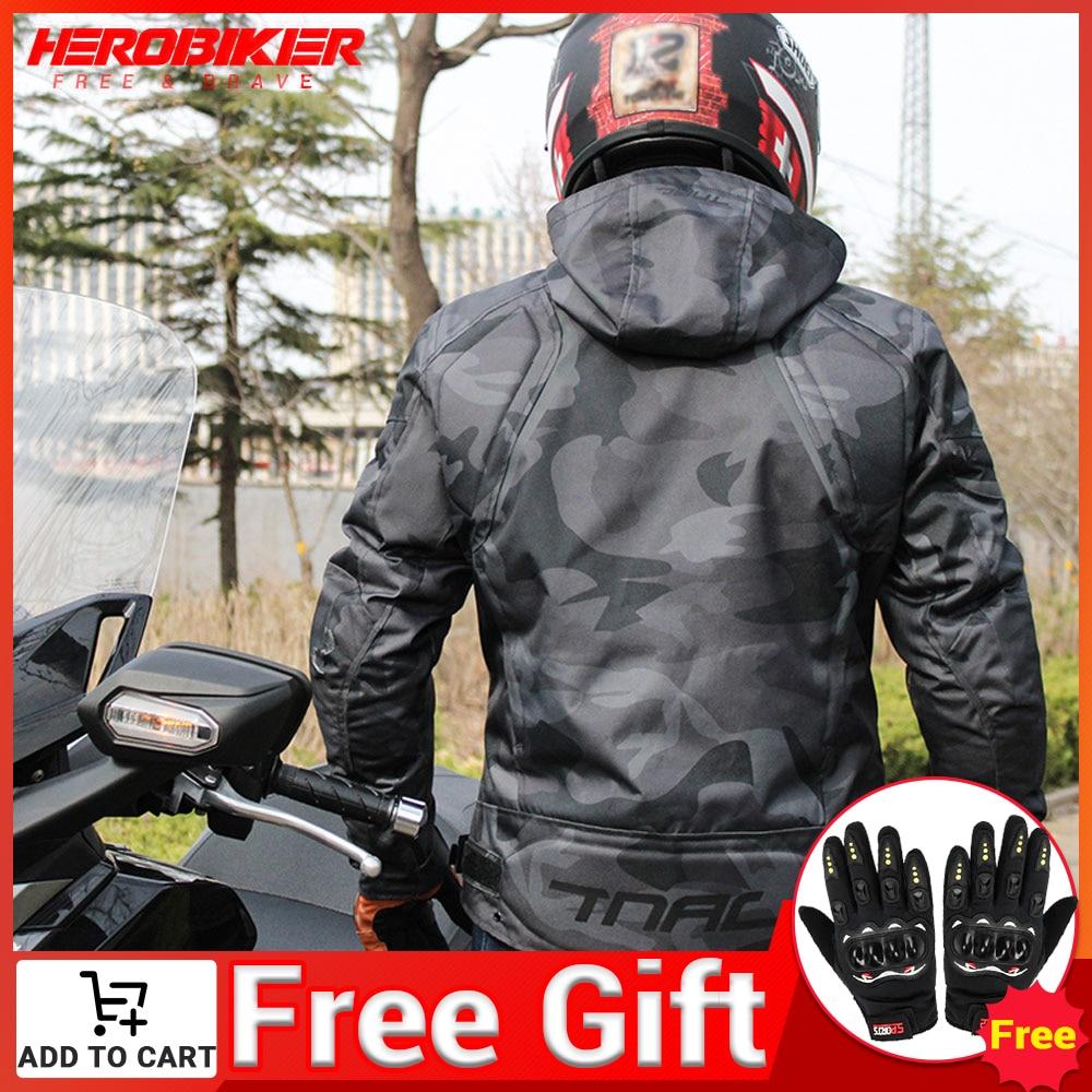 HEROBIKER دراجة نارية جاكيتات موتوكروس سترة سباق تنفس الرجال دراجة نارية ركوب waterfcap أربعة مواسم ملابس عاكسة