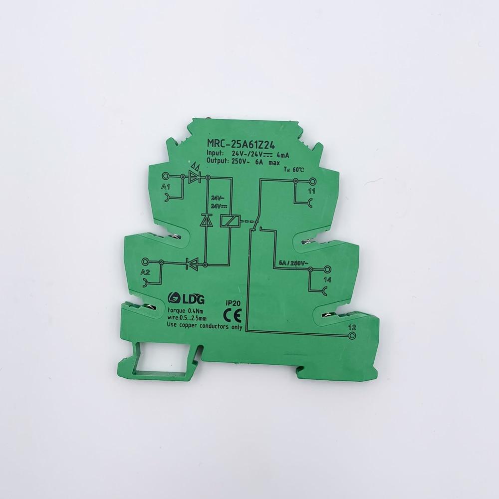 10 قطعة/الوحدة تتابع ssr 6A 250VAC/DC الناتج تتابع وحدة LED الكهرومغناطيسية تتابع الحالة الصلبة التتابع التبديل NO/NC MRC-25A61Z24