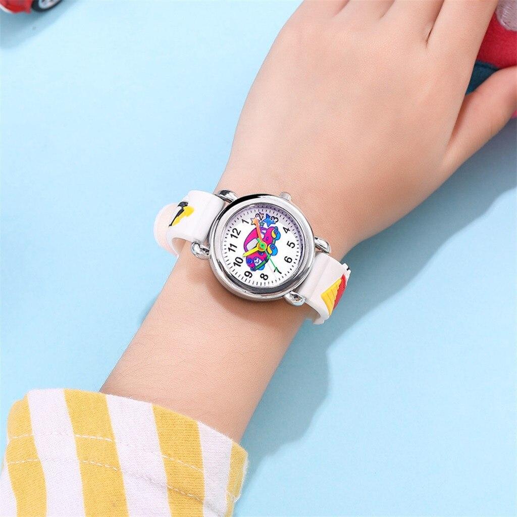 2021 New Fashion Cute Cartoon Pattern Watches Children Kids Boys Girls Student Quartz Analog Wrist W