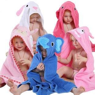 Baby Girls Cartoon Hooded Bathrobe Child Toddler Kids Pajamas Cotton Cute Bathing Towel Robe Baby Clothing Sleepwear