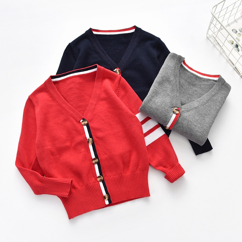 kids boys sweater for children autumn winter boy cotton jacket baby knitted cardigan baby boys clothes toddler boy sweater casual crochet baby sweater for boys solid warm autumn cardigan knitted kids long sleeve sweater school coat baby boys clothing