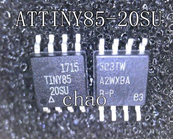 جديد الأصلي ATTINY85-20SU TINY85-20SU TINY85 20SU SOP-8 IC 10 قطعة/1 الكثير