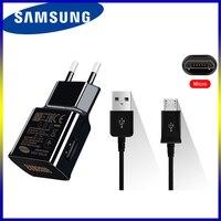 Оригинальное быстрое зарядное устройство Samsung 9 в, 67 А, адаптер для зарядки ЕС/США, 100 см/120 см/150 см, кабель Micro USB для Galaxy S6, S7 Edge, S3, S4, A3, A5, A6, J3