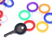 10 pièces de mode creux Multi couleur en caoutchouc souple clé serrures clés capuchon clé couvre Topper porte-clés aléatoire couleurs mélangées