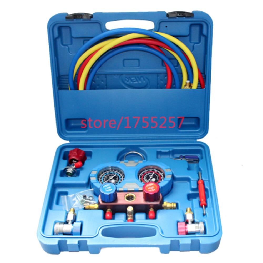 مقياس ضغط غاز التبريد ، مقياس ضغط عالي الجودة ، مقياس ضغط مقاوم للصدمات ، أداة تبريد تكييف الهواء