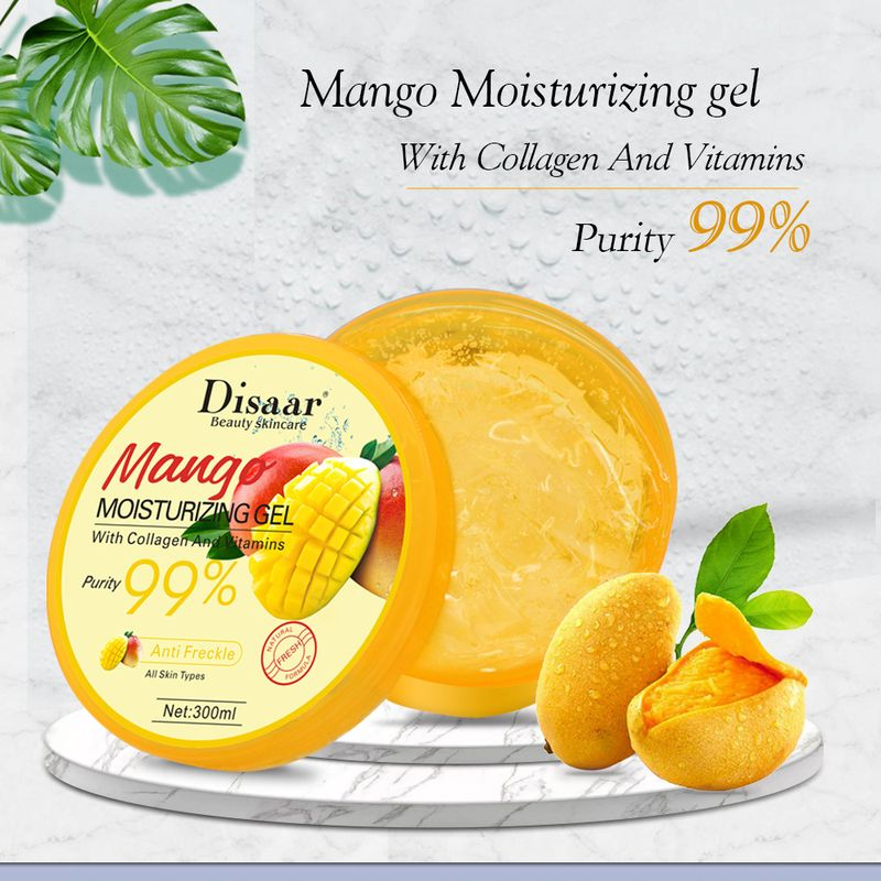 LAIKOU 99% Mango Moisturizing Gel Skin Care Remove Acne Dilute Acne Marks Day Cream Skin Repairing Natural Beauty Products 300ml недорого