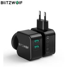 BlitzWolf QC3.0 USB adaptateur voyage mur ue prise chargeur téléphone portable chargeur rapide pour iPhone 11X8 Plus pour Samsung Smartphone