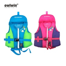 1-10 years life jacket life vest baby girl boy water swimwear swim suit blue red color
