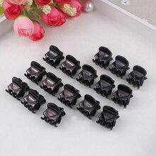 12 pièces Mini pince à cheveux en plastique 6 pinces à cheveux mignon pince à cheveux en plastique noir épingle à cheveux pour dames chapeaux outils de coiffure