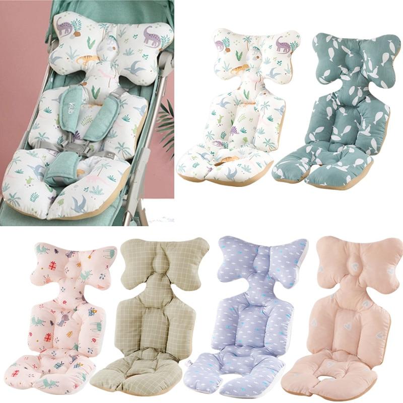 Universal Baby Stroller Seat Cushion Baby Car Cushion Head Neck Support Pillow Infant Pram Pushchair Warm Cushion Mat