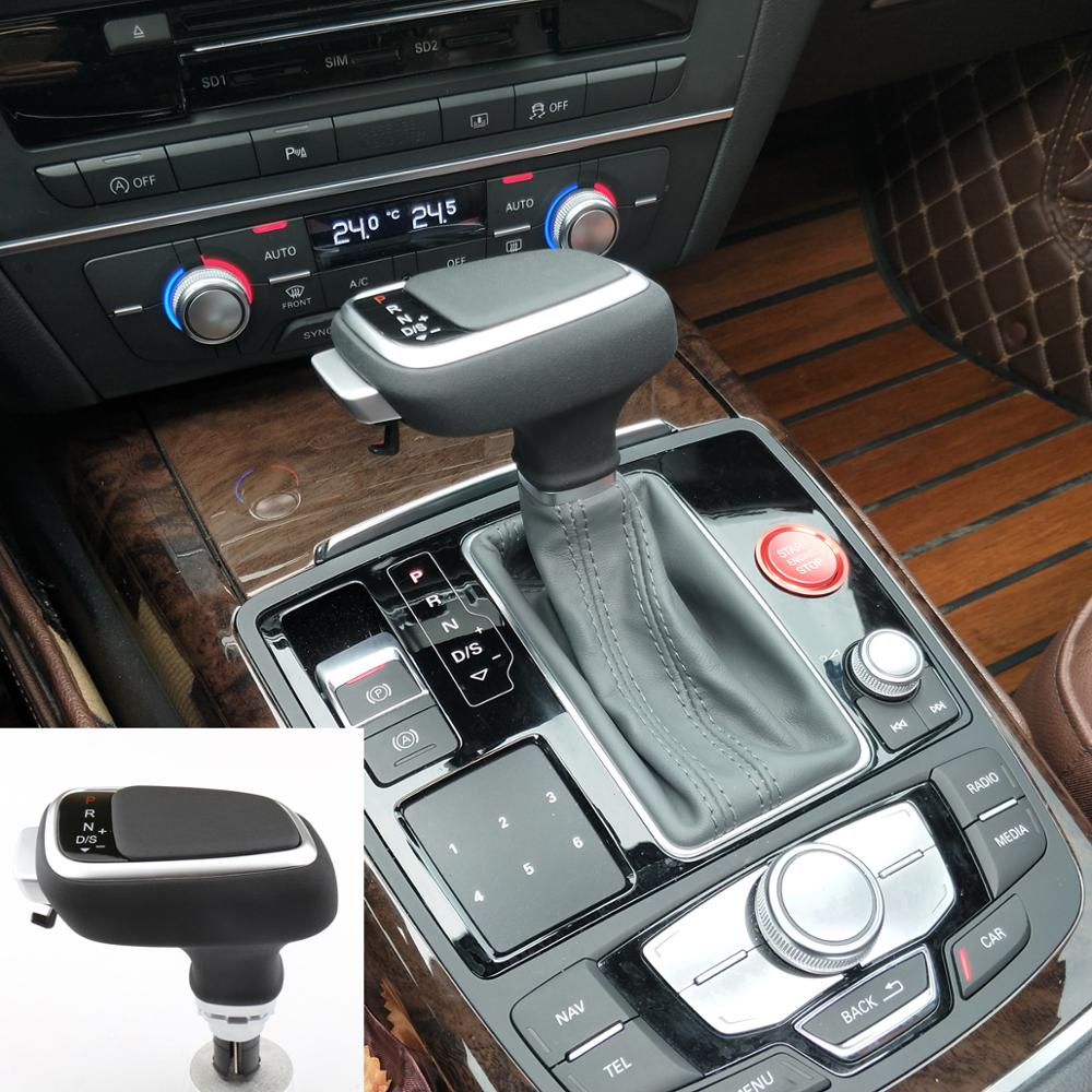 for Audi A4 A5 A6 A7 for Q5 Q7 for S5 S6 Leather Car Grips Automatic Transmission Grips Gear Shift Rod Head Gear shift knob