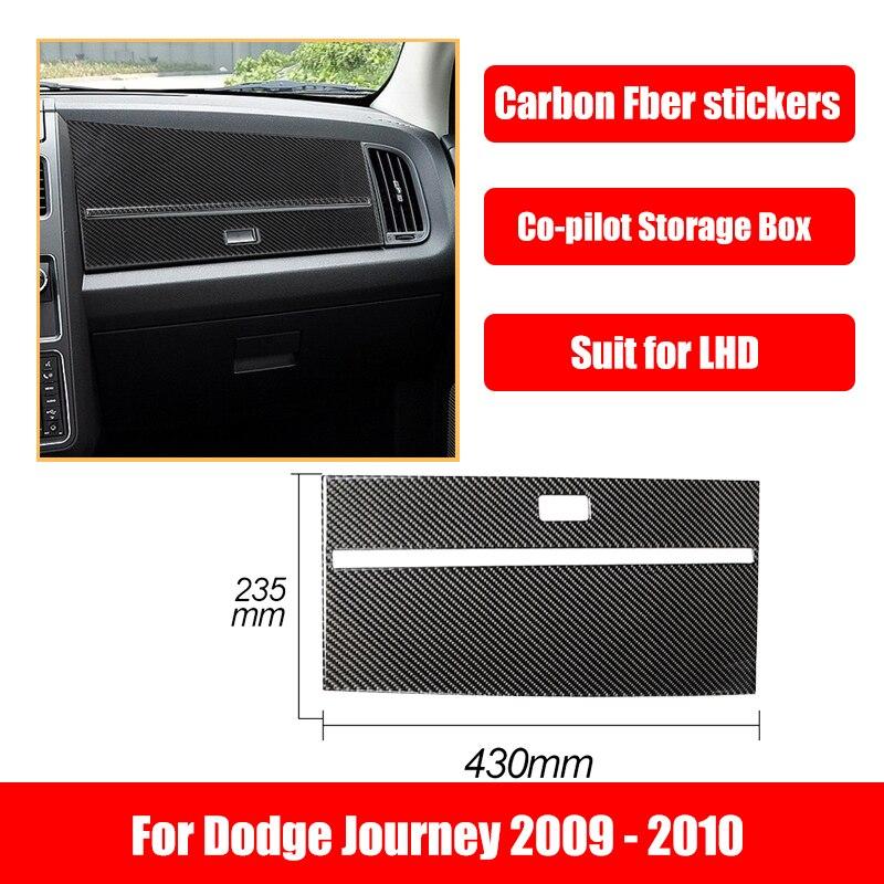 Car Accessories Carbon Fiber Stickers For Dodge Journey 2009-2010 Glove Box Top Panel Interior Decoration Automotive Goods
