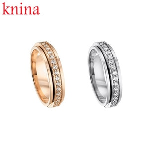 Original Logo Design S925 Sterling Silver POSSESSION Wedding Ring men and women Charm Jewelry Suitable for anniversary PIAGE