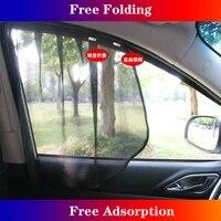 magnetic car sunshade summer uv protection car window mesh sun visor for renault duster megane logan koleos sandero clio captur