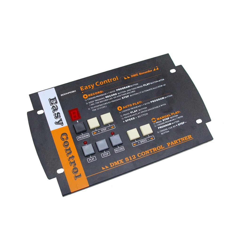 وحدة تحكم إضاءة المسرح ، وحدة تحكم سهلة بسيطة DMX 512 ، مسجل ، حفظ 7 برامج ، 4 ميجابايت ، مفتاح تلقائي/واحد باللمس ، وحدة تحكم DMX