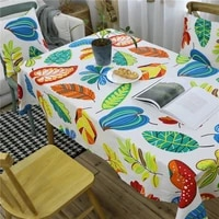 nordic modern ins tablecloth tea table cloth colorful plants leaf dinner table cover chair seat cushion cover