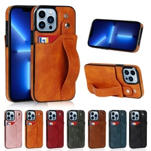 Retro PU Leather Case For iPhone 13 12 11 Pro Max XS Max Multi Card Slot Holder Phone Cases For iPho
