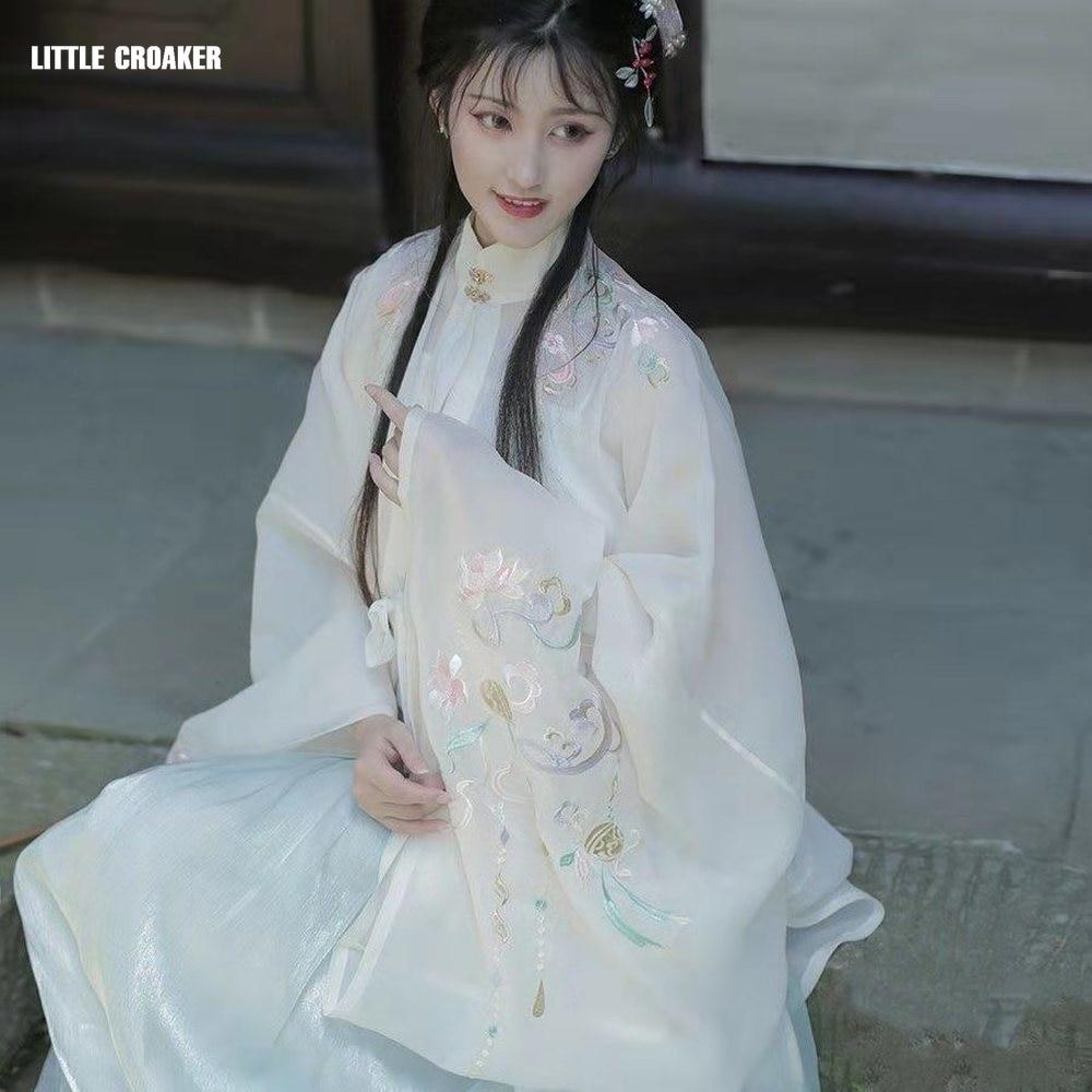 Элегантное платье ханьфу в старинном стиле, костюм принцессы династии Тан для народных танцев, традиционная китайская женская одежда для в...
