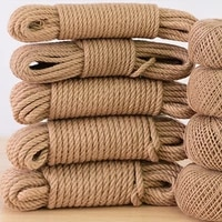12 20mmthickness high quality natural handmade jute rope variety thickness rope for gift flower packing diy handcraft supply