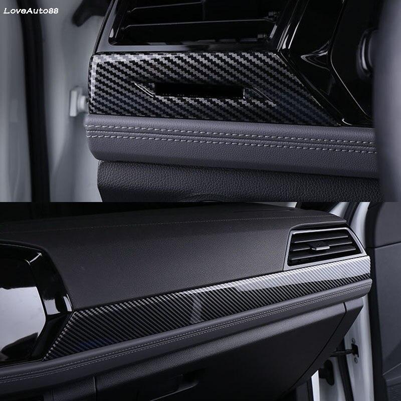Tablero de instrumentos de coche, franjas embellecedoras cubierta tipo de Control central, pegatinas de adorno interiores, tiras para Volkswagen VW Jetta MK7 2019 2020 Accesorios
