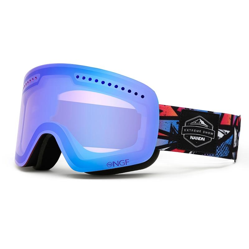 Luxury Aldult Winter Ski Goggles Double Layer Anti-Fog Snowboard Ski Goggles Men Women Skiing Eyewear New Outdoor Sports Glasses
