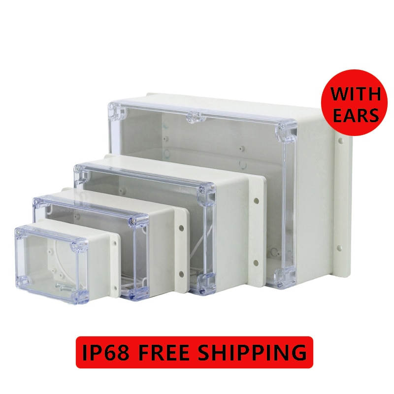 10 pieces a lot electrical plastic junction box waterproof electrical junction box 166 166 91 mm 6 5 6 5 3 6 inch IP68 Plastic Transparent Box Waterproof Enclosure Electronic Project Outdoor Instrument Electrical Project Box Junction Housing