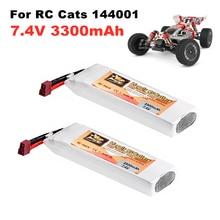 7.4 V batterie pour Wltoys 1/14 144001 RC voiture bateau batterie 2s 7.4 V 3300mAh rechargeable Lipo batterie et chargeur pour Wltoys 144001