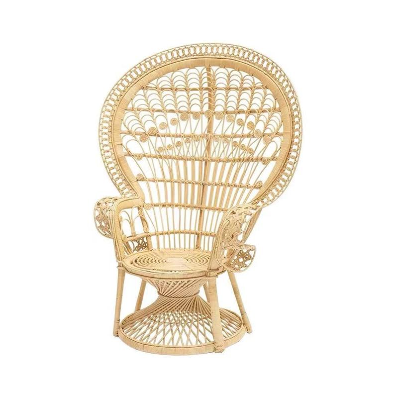 Скандинавский Досуг ручной работы натуральный ротанговый трость плетеные художественные садовые стулья павлиний стул