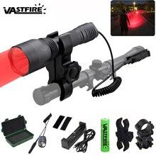 VASTFIRE Jagd Taschenlampe 256 hof Scout Licht Taktische UV Pistole Waffe Gun Licht + Gewehr Montieren + Schalter + 18650 + ladegerät