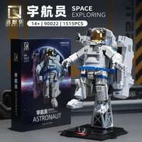 new moc space station building blocks astronaut space robot spaceman building blocks 3d building block model toy christmas gift
