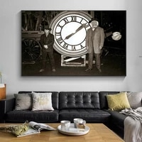 movie back to the future canvas art posters and prints retro classic photos wall art hanging pictures for home living room decor
