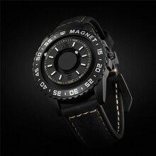 EUTOUR orijinal marka yeni manyetik siyah teknoloji hayır işaretçi kör dokunmatik erkek ve kadın high-end quartz saat deri kayış