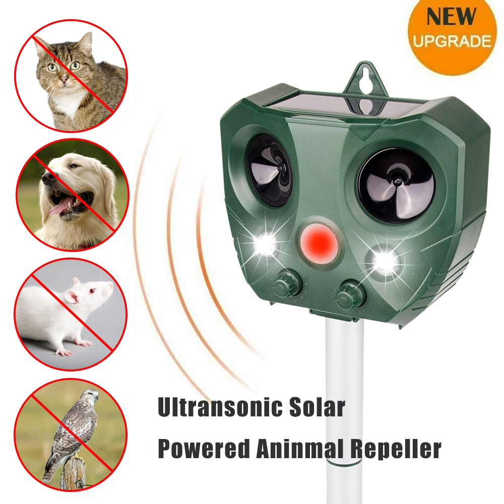 Solar Powered Motion Aktiviert Tier Ultraschall Katzen Hund Repeller Frighten Tiere Für Outdoor Gartenarbeit sonar Repellents