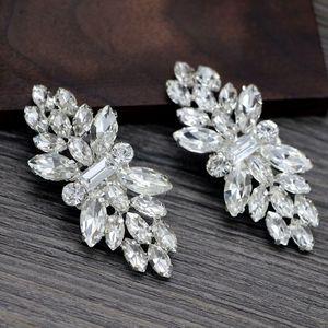2pcs Shoe Clip Wedding Shoes High Heel Women Bride Decoration Rhinestone Shiny Decorative Clips Charm Buckle 23GE