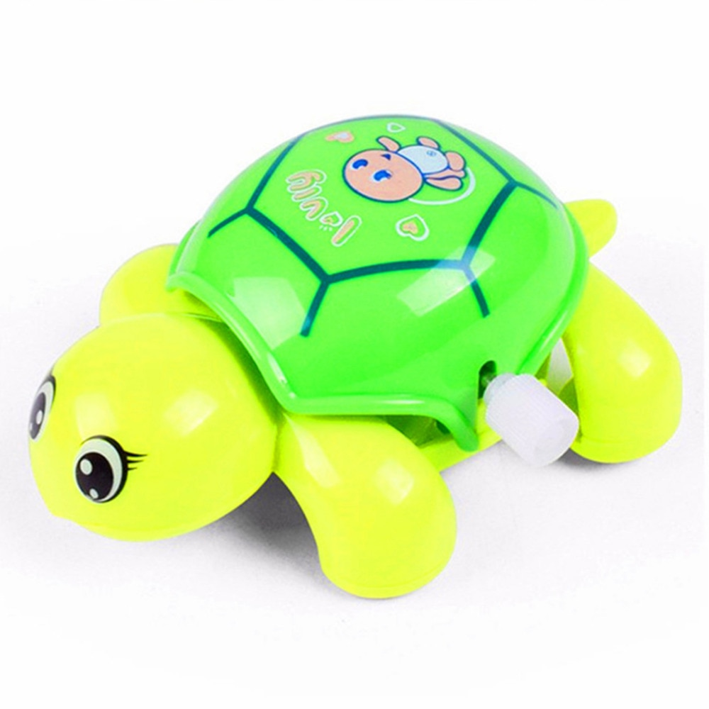 New Cartoon Animal Clockwork Tortoise Baby Turtles Toys Infant Crawling Wind UpToy Educational Kids Classic Toy Random Color