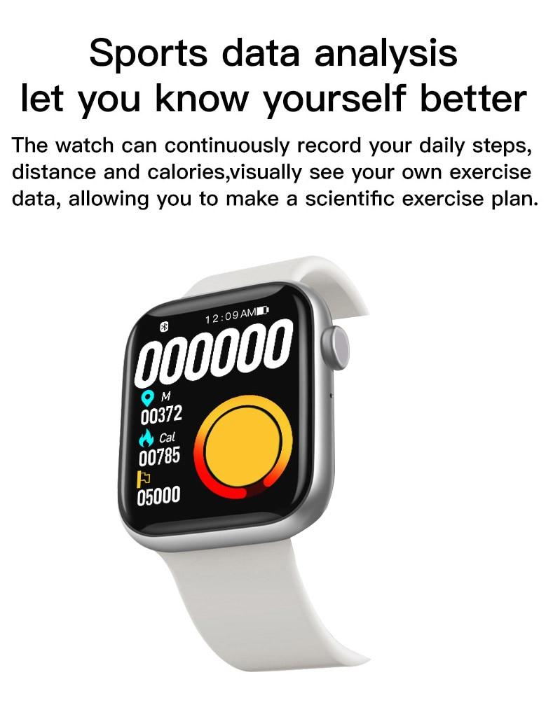 "H589c7f95e2154b1fae8caeda0356937cf 2021 IWO 13 MAX Smart Watch T500+ plus 1.75""HD Bluetooth Calls Custom Wallpaper Heart Rate Monitor Sport Smartwatch PK W46 W26"