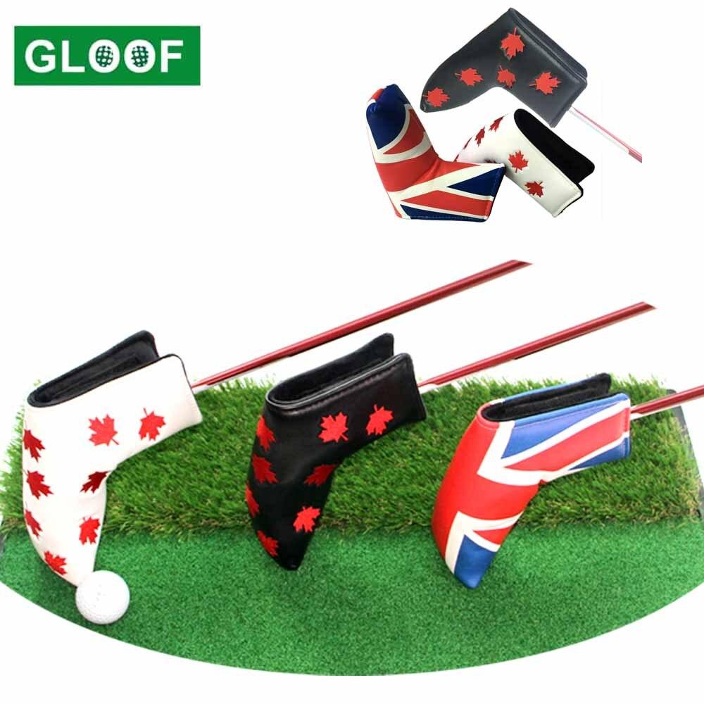 1 Uds Golf cubre PU Club accesorios Golf Putter CUBIERTA Cubierta de cabeza para Blade fundas de cabeza para Club de Golf accesorio
