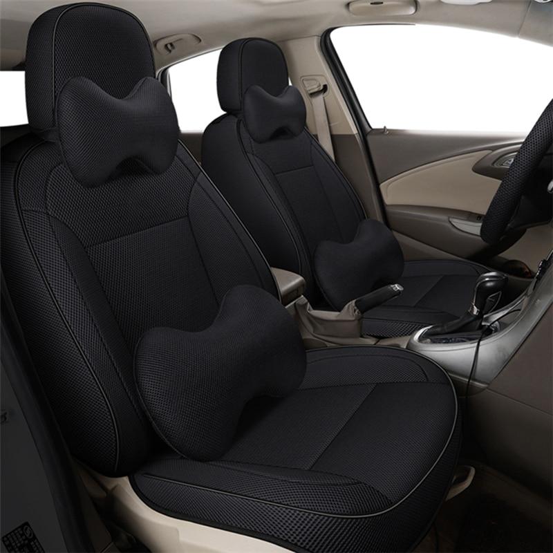 Funda de lino para asiento de coche, cubierta negra para chrysler 300c...