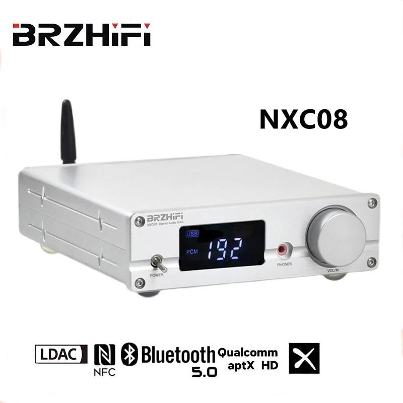 جهاز فك الترميز من BRZHIFI DAC ES9038PRO عالي الدقة بتقنية البلوتوث 5.0 DSD512 USB PCM32Bit 384KHZ جهاز فك الترميز الصوتي الرقمي عالي الدقة يدعم LDAC APTX