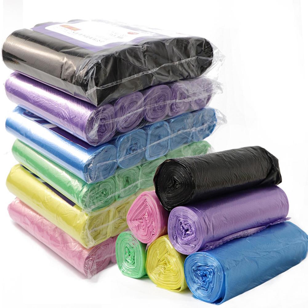 5 rolls 100 pces do agregado familiar descartável saco de lixo de armazenamento de cozinha sacos de lixo de limpeza saco de plástico