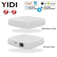 Tuya Smart Zigbee Gateway Hub Wifi Smart Home Bridge Smart Life Wireless Remote Voice Controller Work with Alexa Google Home